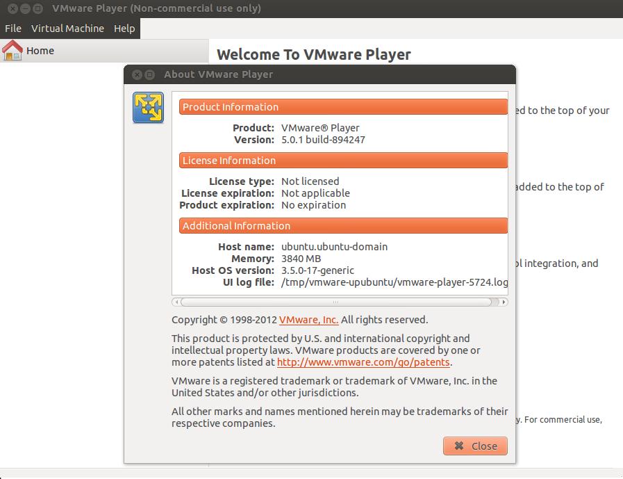 Vmware Player 5