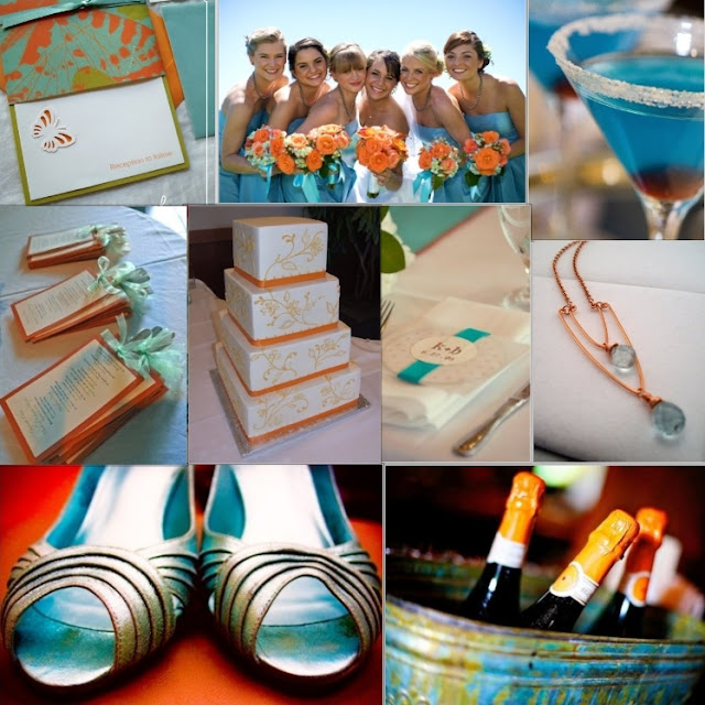 Idaho bride magazine teal teal and more teal - Orange and teal decor ...