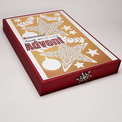 Weihnachtliche Karten-Schubladenbox mit Sternen Stampin' Up! www.eris-kreativwerkstatt.blogspot.de