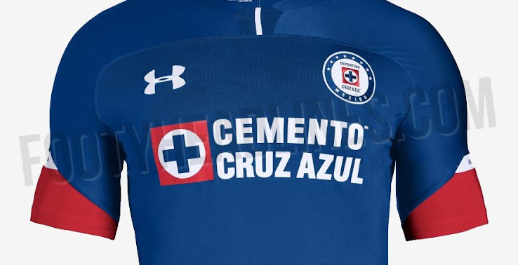 cb97569c5c2 Cruz Azul 18-19 Home Kit. This is the Under Armour Cruz Azul 2018-2019 home  shirt.