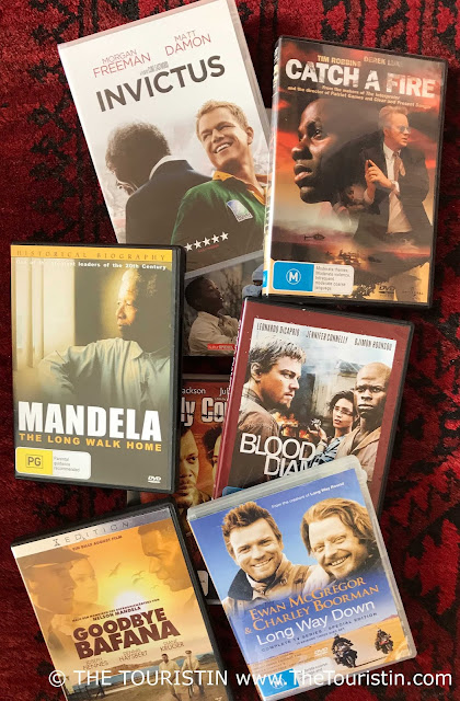 Nine DVD covers of films that play in South Africa