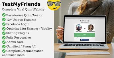 TestMyFriends - Complete Viral Friend Quiz Website