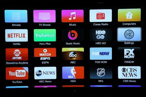 varieties of channels on apple tv internet tv device