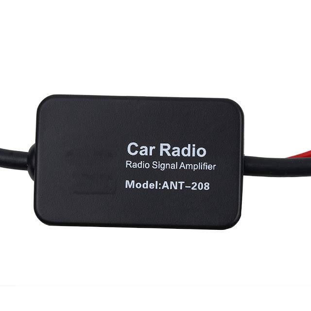 Car Radio Antenna FM/AM Radio Signal Amplifier kebidumei 12V Booster Car Antenna Aerials 80-108MHZ For Marine Boat Auto