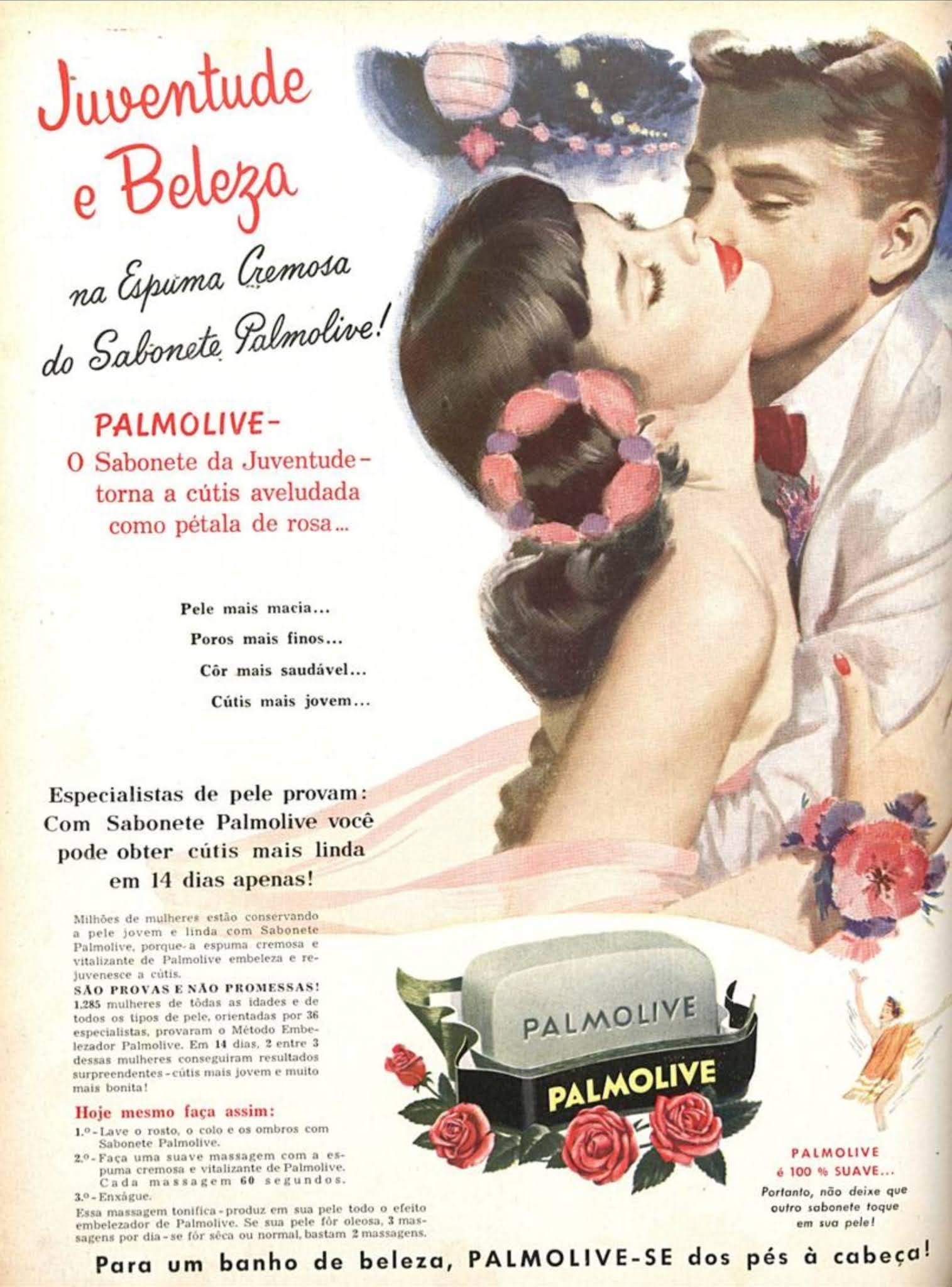 Propaganda antiga do Sabonete Palmolive veiculada em 1956