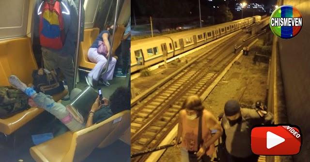 Se descarriló el Metro en Caricuao y dejó a varios usuarios heridos