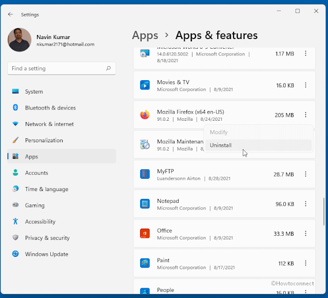 How to uninstall apps on Windows 11