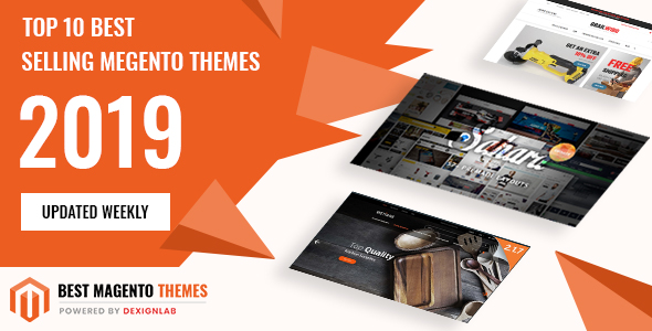 Top Rated Best Selling MegentoTemplate 2019 - Updated Weekly