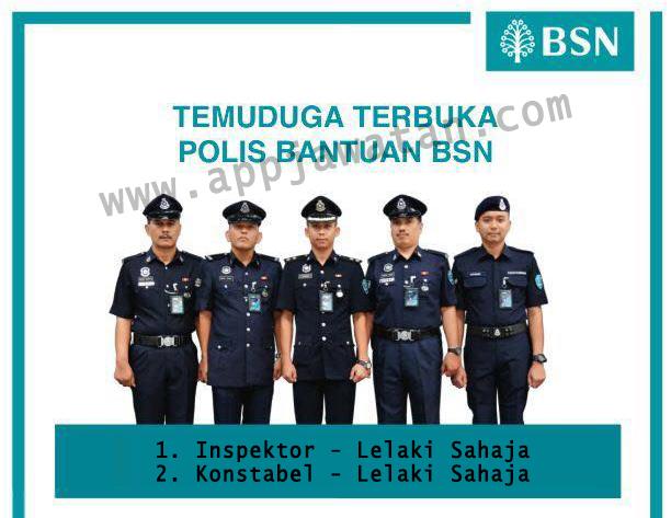 Temuduga Terbuka untuk Polis Bantuan (BSN)
