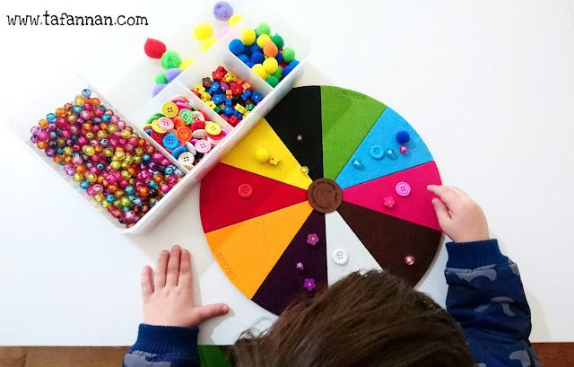 قرص الألوان للصغار color circle for kids