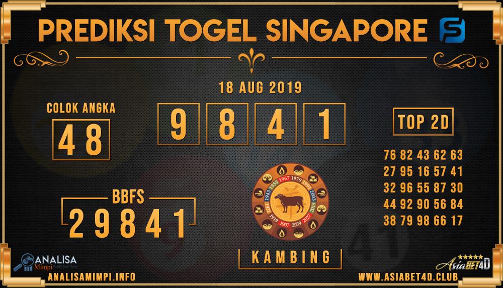 PREDIKSI TOGEL SINGAPORE ASIABET4D 18 AUG 2019
