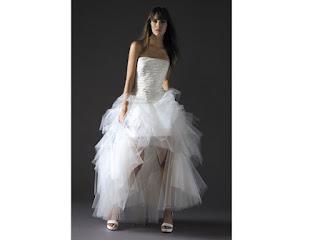 vestido mullet com tule para casamento