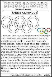 Anéis olímpicos -texto