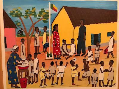 cours de récréation au Bénin