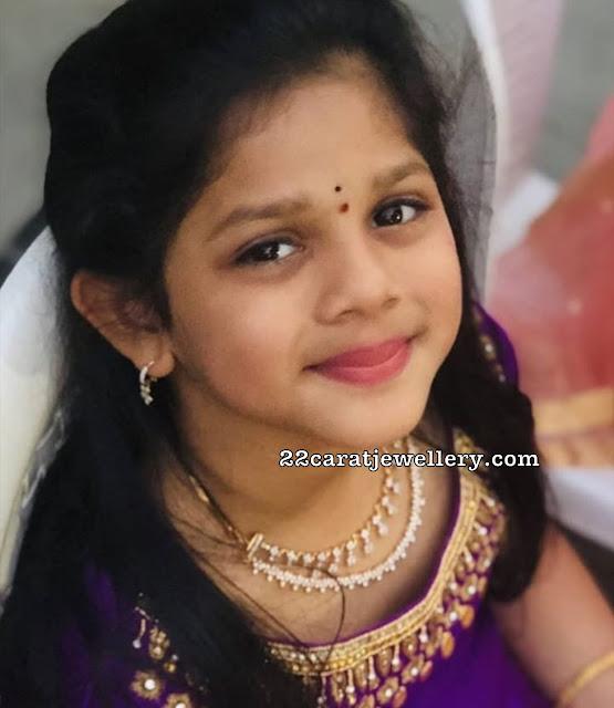 Allu Anvitha Simple Diamond Choker