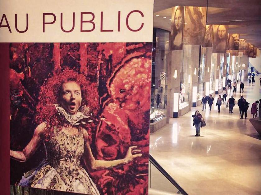 Виставка ALICE Макса Сіра у Міжнародному салоні сучасного мистецтва у Карусель дю Лувр (Париж, травень 2018 р.). Ця картина була обрана як офіційний промо-образ Міжнародного салону сучасного мистецтва