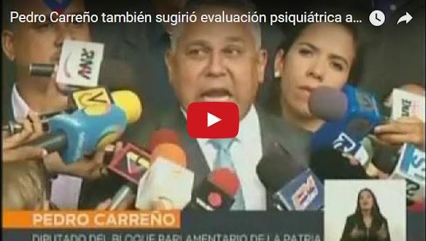 Pedro Carreño ataca a todos los periodistas