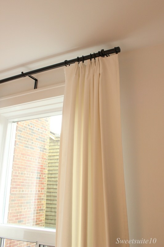 DIY pinch-pleated drapes