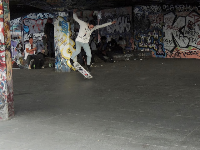 southbank, skaters, london