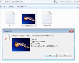 Menghapus File dari Komputer Klien