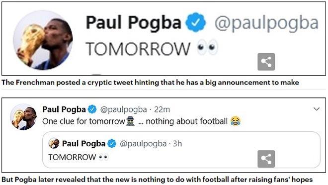 """Pogba úp mở về hợp đồng mới, bày trò """"câu like"""" khiến fan MU hụt hẫng"""