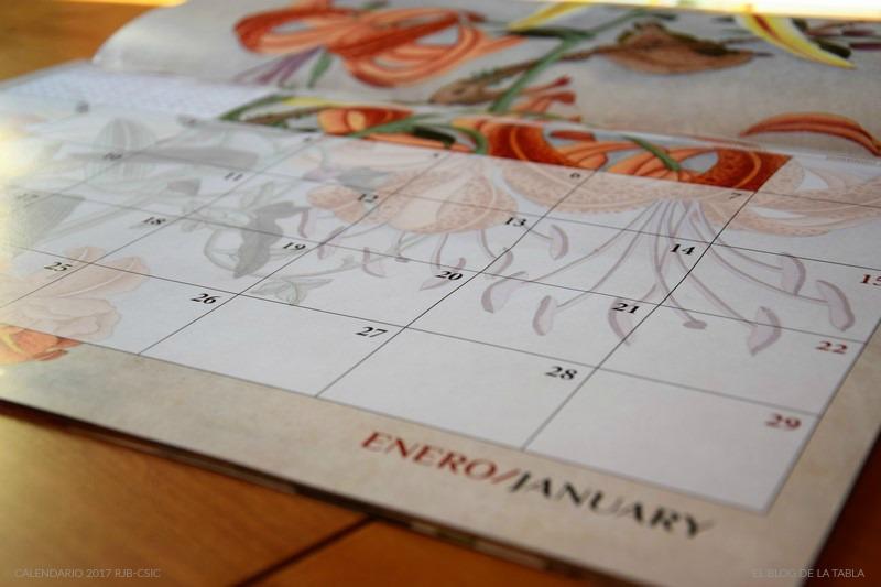 Calendario 2017 Real Jardin Botánico Colección Van Berkhey