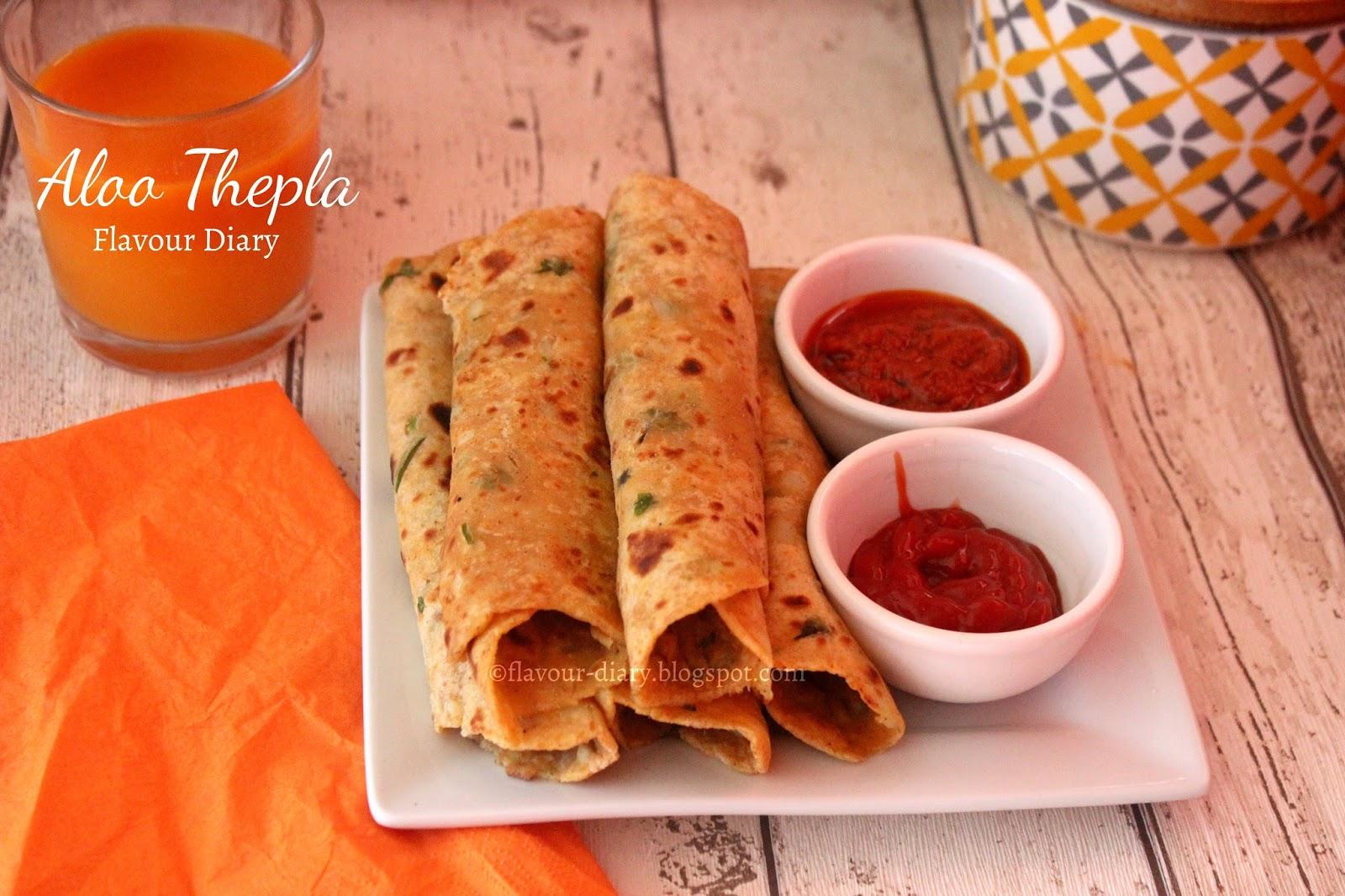 Gujarati Aloo Thepla dhebra Recipe