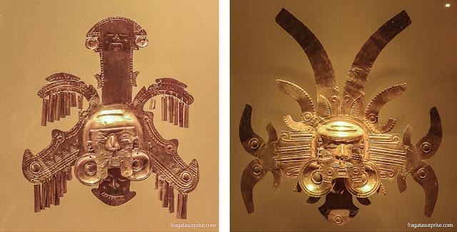 Adornos de cabeça da cultura Calima, Museu do Ouro de Bogotá
