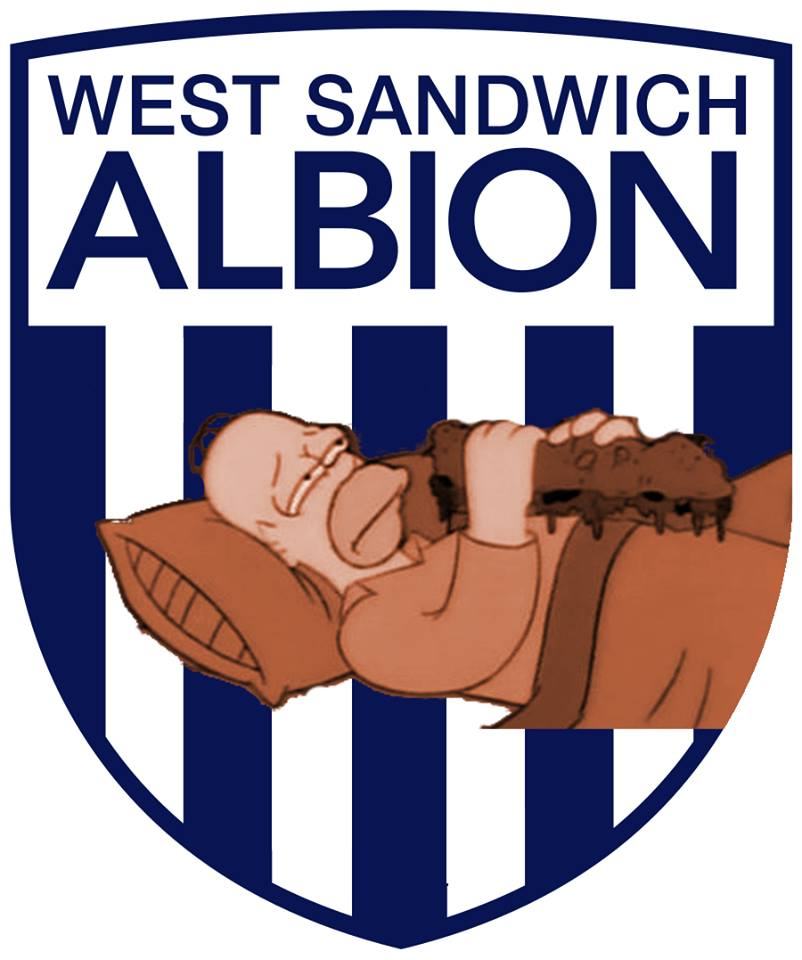 The Simpsons' version logo of West Brom