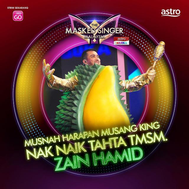 zain ruffedge tersingkir minggu 4 masked singer malaysia