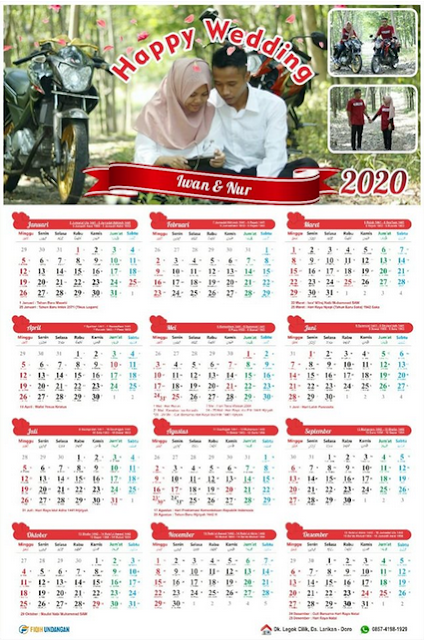 Download File Kalender Costume Design Tahun 2020