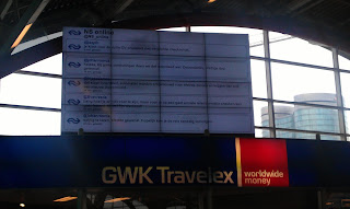 Interactive twitter wall from the dutch railways