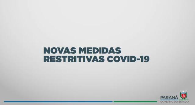 Governo do PR anuncia novas medidas de enfretamento ao novo coronavirus