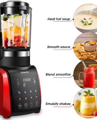 Amaste 1200W Cold and Hot Professional Countertop Blender