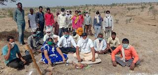 पेटलावद तहसील के बावड़ी क्षेत्र में तालाब का भूमि पूजन किया गया
