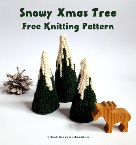Knitting And So On Snowy Xmas Tree