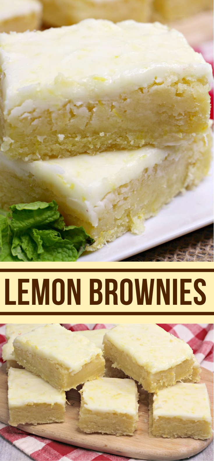 LEMON BROWNIES #favoritedessert #cakes