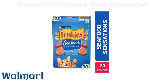 Friskies Dry Cat Food, Seafood Sensations, 30 lb. Bag