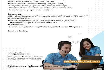 Lowongan Kerja Logistik Staff Biznet Bandung