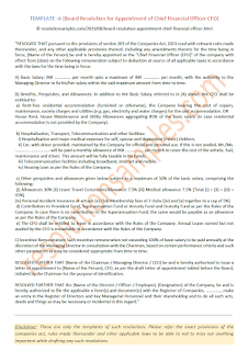 board resolution for appointment of chief financial officer cfo