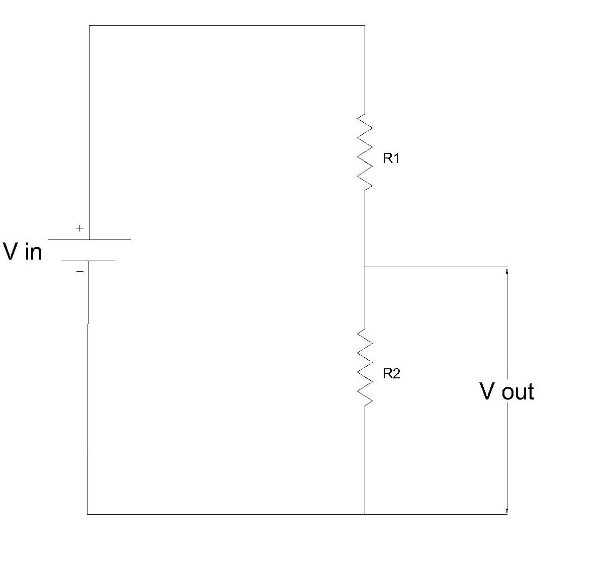 Voltage Division Rule Potential Divider Circuit Electrical Classroom Diagram