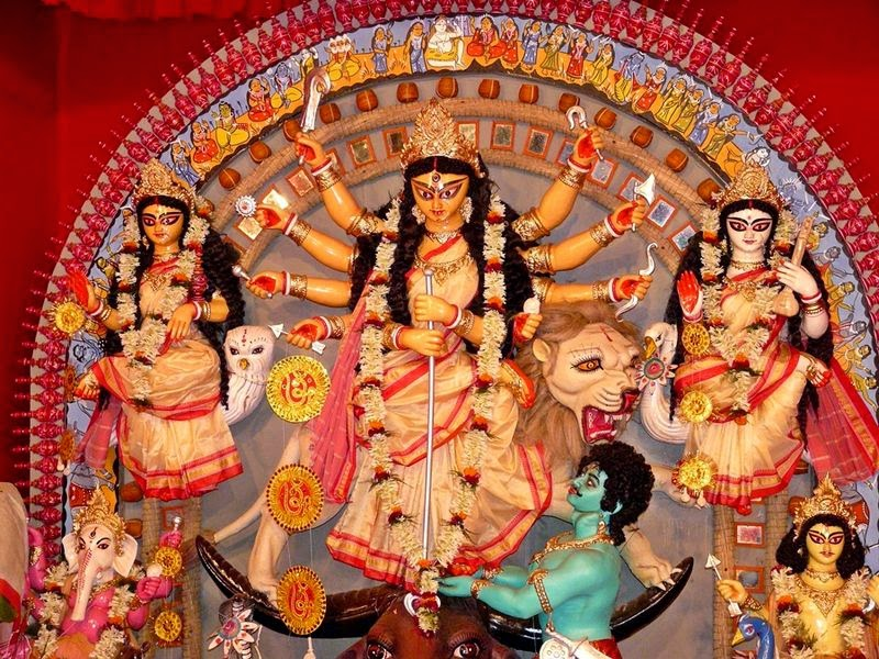 Maa Durga With Her Full Grace