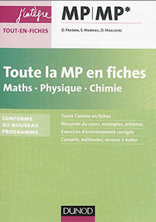 Livre : Toute la MP/MP* en fiches Maths-Physique-Chimie