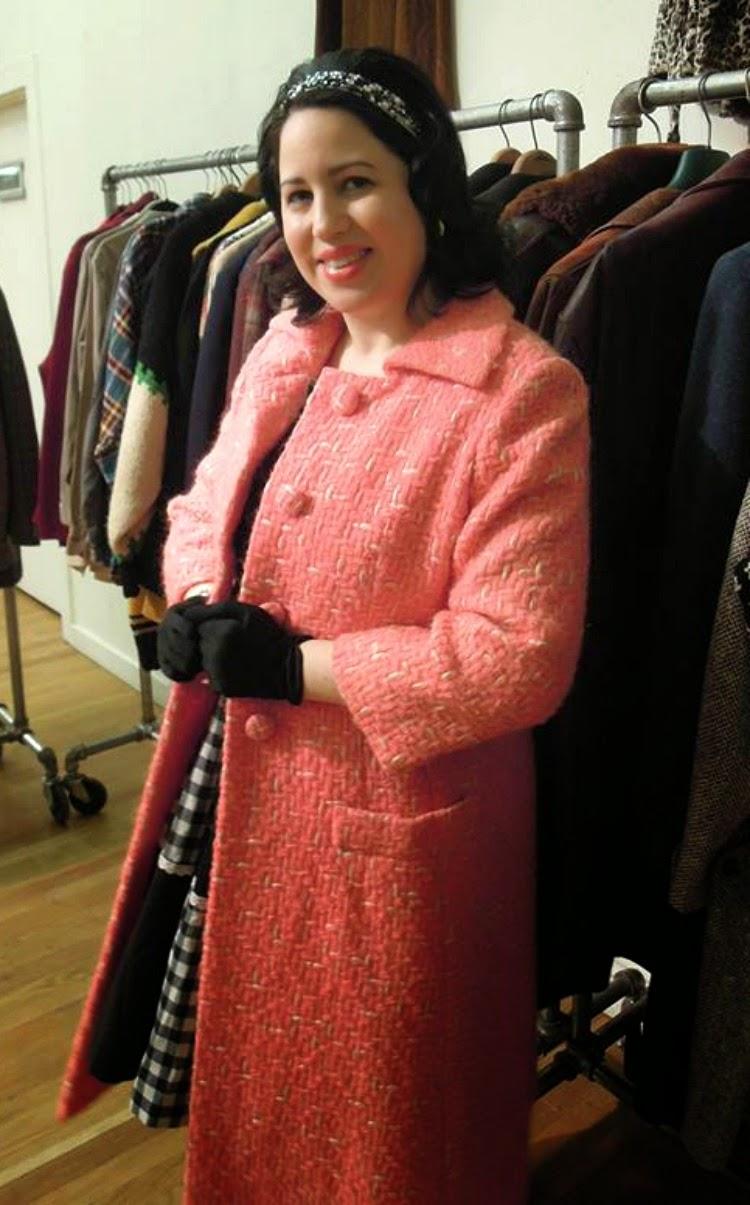A Vintage Nerd Vintage Blog Vintage Fashions Manhattan Vintage Show 1960's Coat