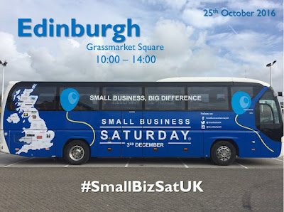 Small Business Saturday tour bus in Edinburgh