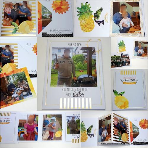 "Geburtstagskarte im Minialbum-Format mit dem Paper-Pumpkin-Set ""Sonne Pur"" Stampin' Up! www.eris-kreativwerkstatt.blogspot.de"