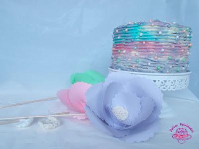 Layer cake arco iris