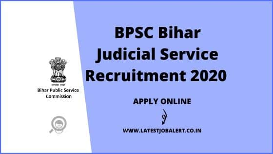 BPSC Bihar Judicial Service Recruitment 2020