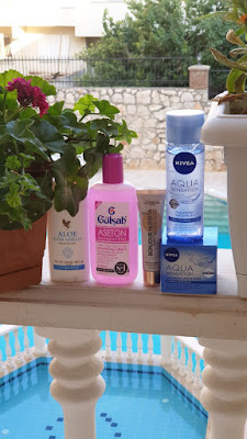 Forever Aloe Vera Roll on stick, gülşah aseton, Loreal Bonjuar nudista bb kream, nivea aqua sensation tonik ve krem