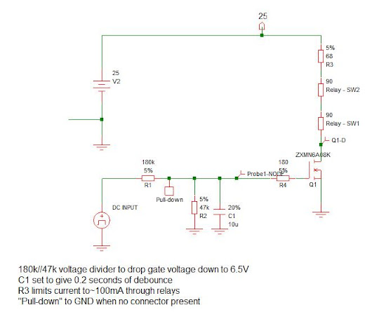 Battery charging circuitry part 2 - Relay driver & protection